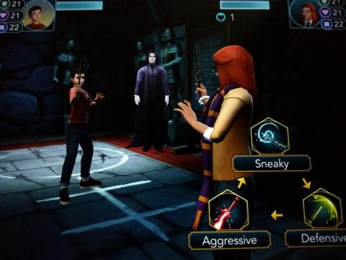 screenshot of duelling club in hogwarts mystery