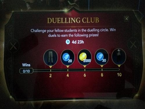 Second Hogwarts Mystery Duelling Club event rewards