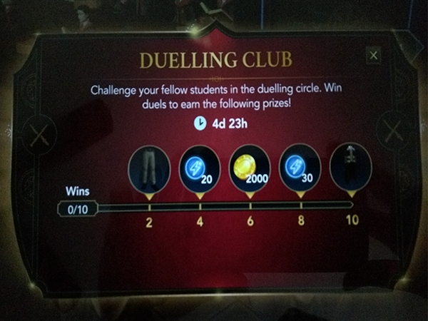 Second Hogwarts Mystery Duelling Club event rewards