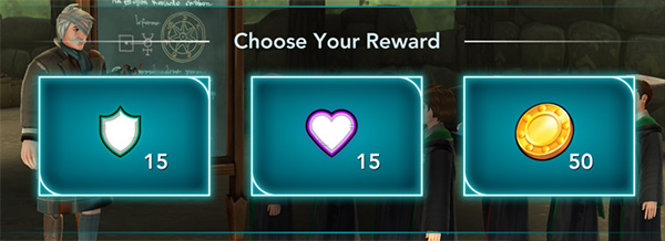 Class star completion reward in Harry Potter Hogwarts Mystery