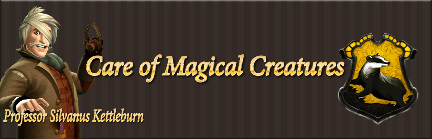 hogwarts mystery care of magical creatures class guide banner