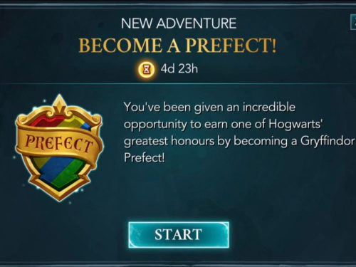 screenshot of the hogwarts mystery prefect adventure.