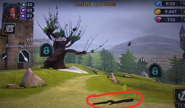 hogwarts mystery castle grounds stick free energy location