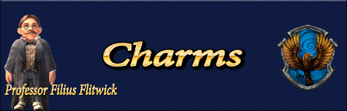 banner for hogwarts mystery charms class guide