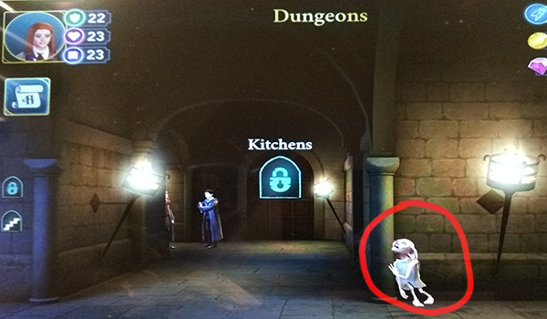 Screenshot of the dungeons free energy location