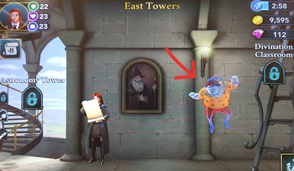Peeves location in the East Towers
