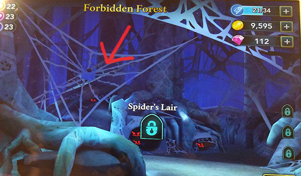 Forbidden Forest Hogwarts Mystery secret energy spider web