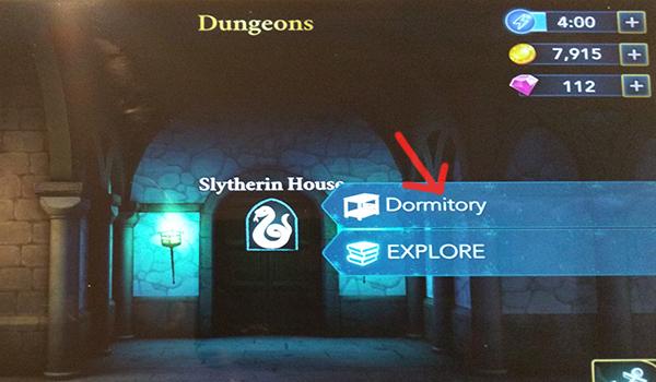 slytherin house dormitory in Hogwarts Mystery