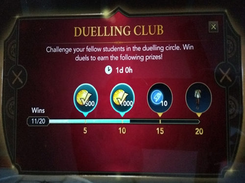 hogwarts mystery new duelling club event number 3