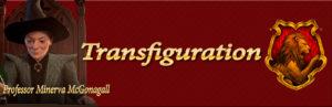 hogwarts mystery transfiguration class banner