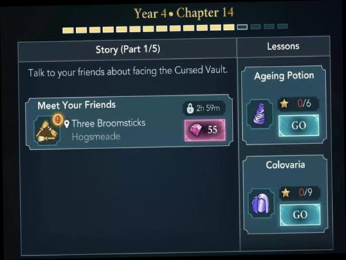 year 4 chapter 14 is released in Hogwarts Mystery