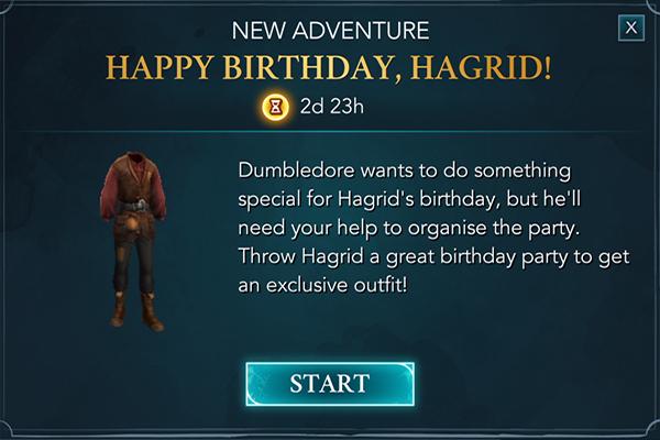 hogwarts mystery happy birthday hagrid event