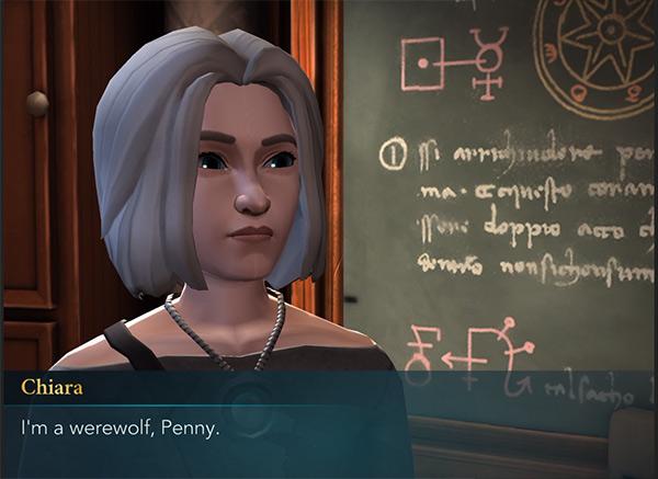 chiara reveals her werewolf secret hogwarts mystery