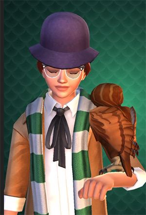 new purple hat hairstyle reward hogwarts mystery