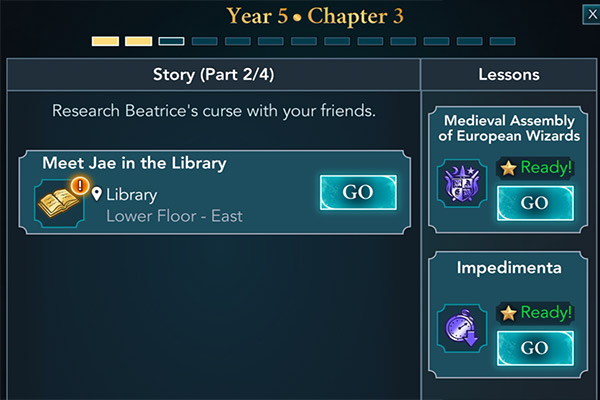year 5 chapter 3 hogwarts mystery