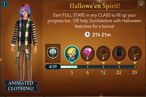 hogwarts mystery hallowe'en spirit event