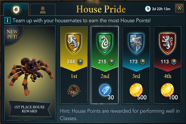 hogwarts mystery house pride event