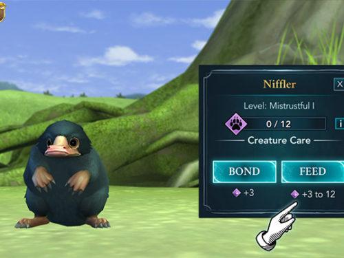 adopt a niffler in hogwarts mystery