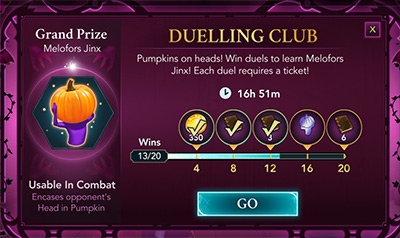 halloween duelling club event in hogwarts mystery