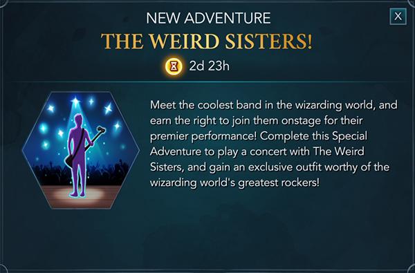weird sisters band adventure hogwarts mystery