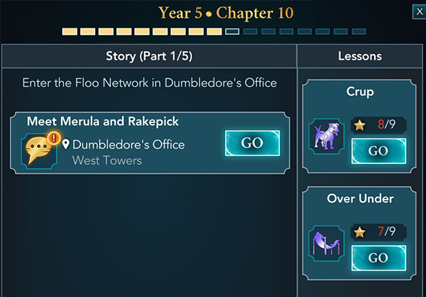 hogwarts mystery year 5 chapter 10