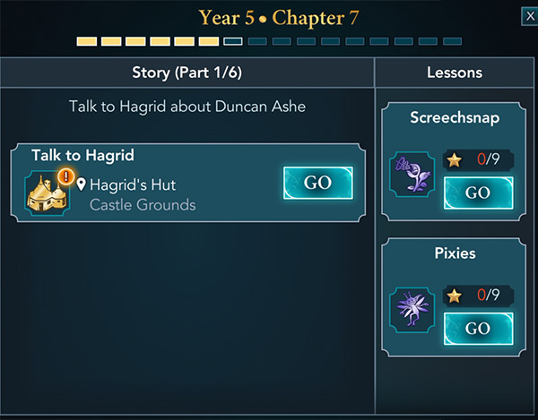 hogwarts mystery year 5 chapter 7