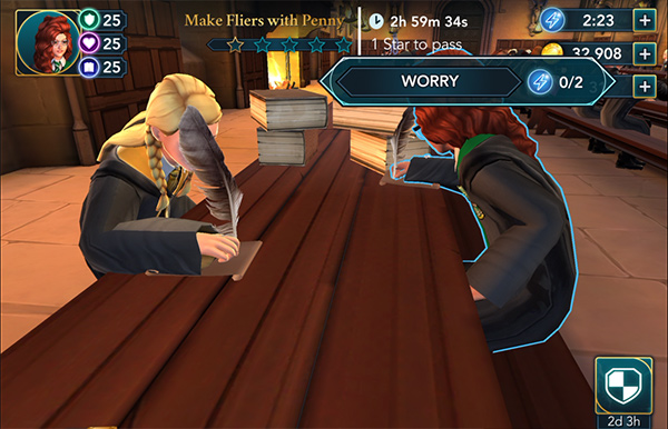 make weird sisters fliers with penny haywood in hogwarts mystery