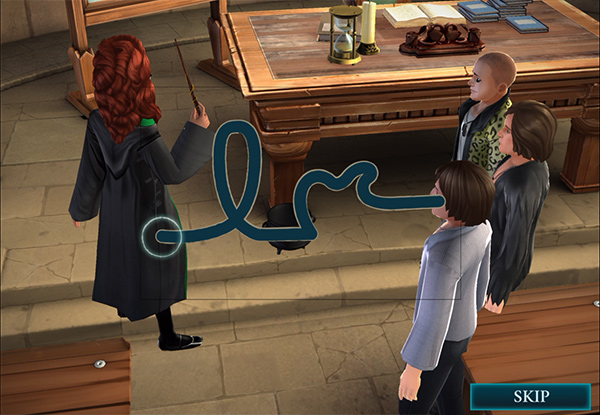 transfigure a cauldron into bass guitar in hogwarts mystery