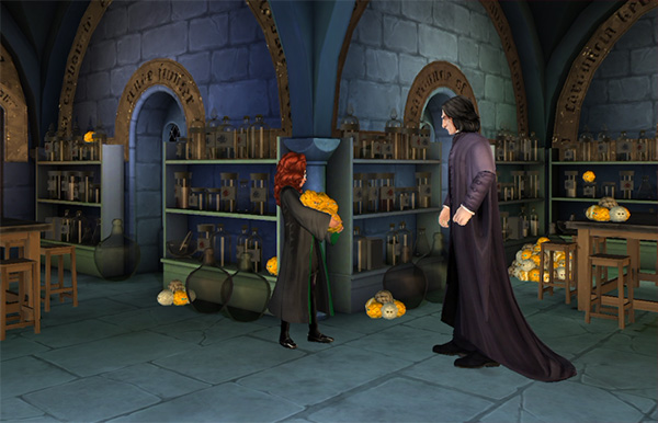 help snape collect puffskeins
