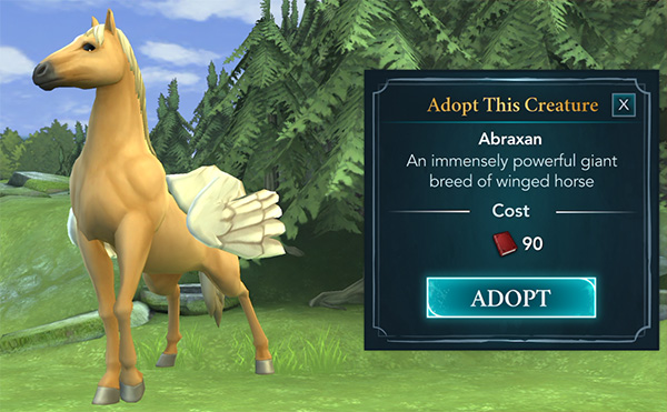 hogwarts mystery abraxan adoption available