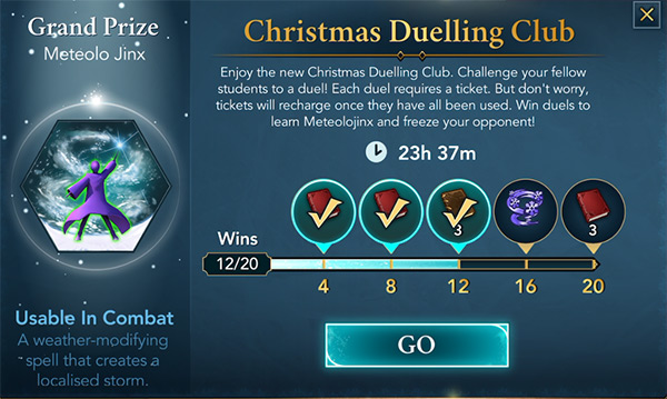 christmas themed duelling club event