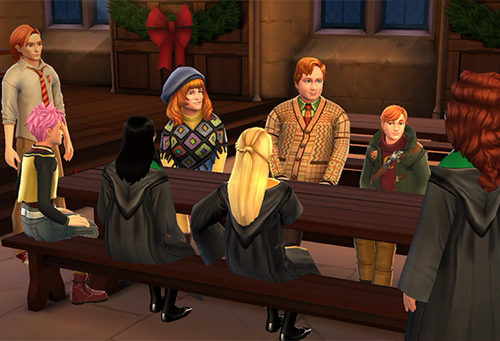 meet molly and arthur weasley in hogwarts mystery