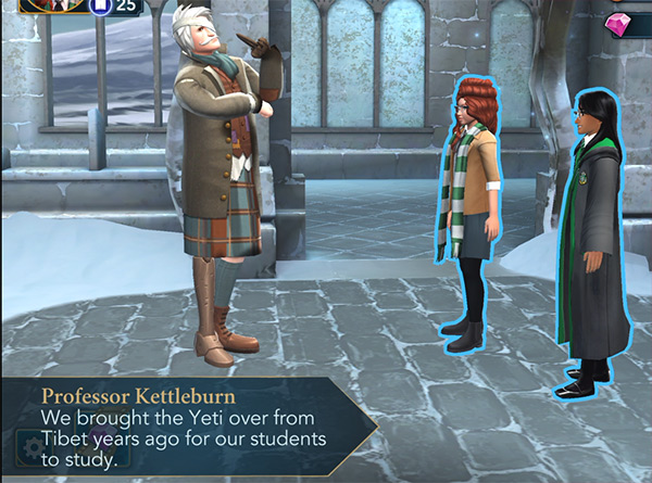 professor kettleburn explains about yetis.