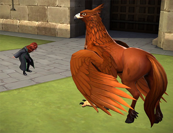hogwarts mystery tame a hippogriff