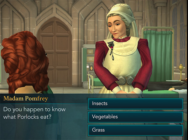 what do porlocks eat hogwarts mystery