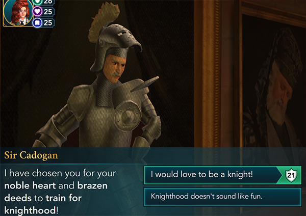 become a knight in hogwarts mystery
