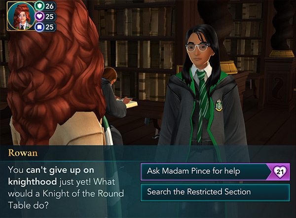 hunt for a magical scroll with rowan