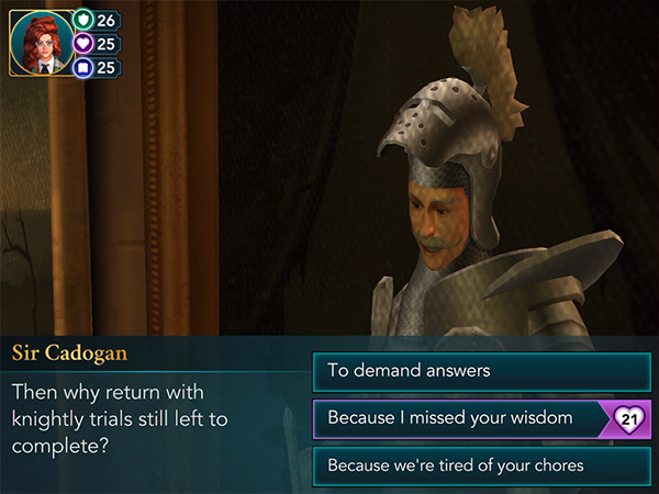 knightly trials in hogwarts mystery