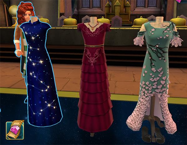 celestial ball dress choices