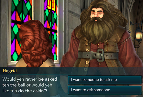 hagrid gives dating advice for celestial ball