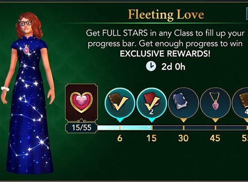 fleeting loves hogwarts mystery valentine's event