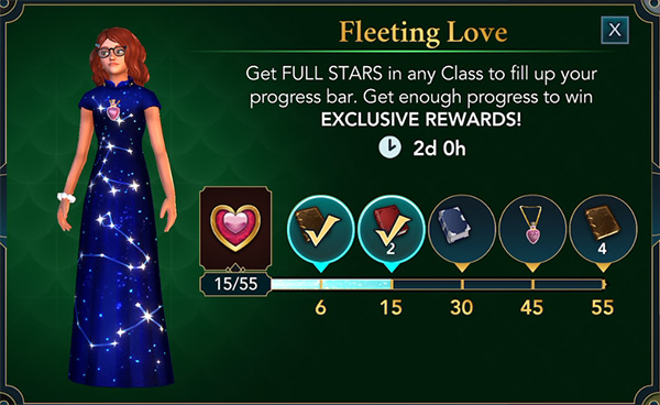 fleeting loves hogwarts mystery valentine's event