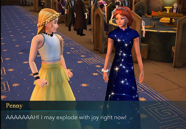 penny haywood date hogwarts mystery dance
