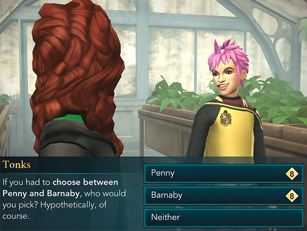 tonks asks who you would take to celestial ball