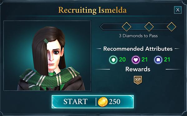 recruit ismelda hogwarts mystery