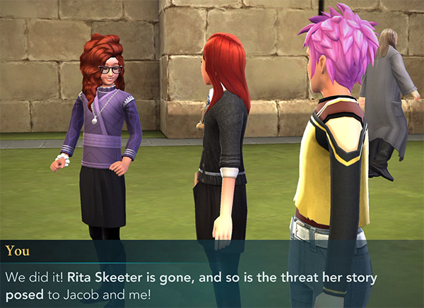 scare rita skeeter out of hogwarts