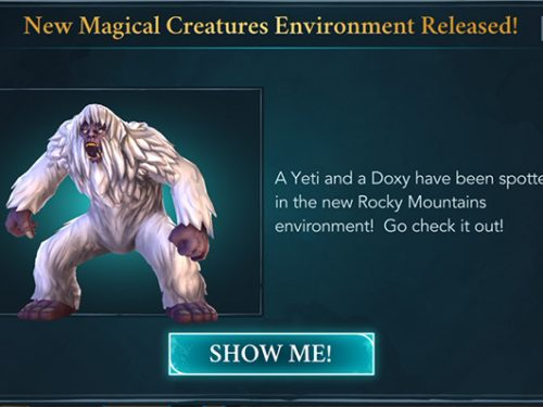 hogwarts mystery yeti doxy magical creature