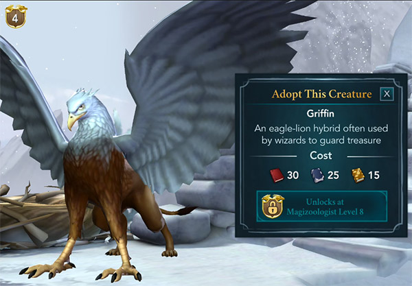 adopt this griffin at the magical creature reserve