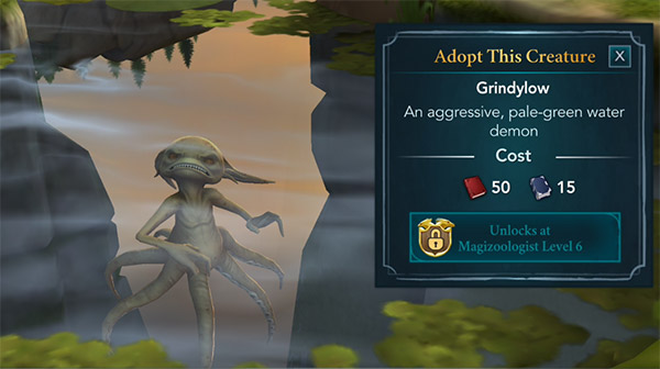 adopt this grindylow at the hogwarts mystery lake
