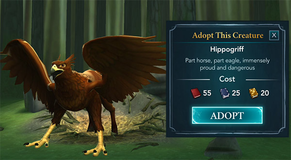 magical creature reserve hippogriff adopt option